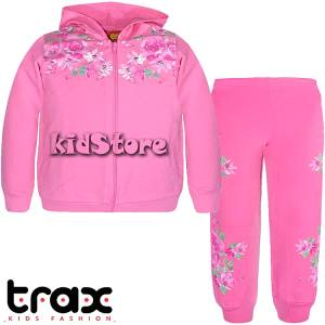 TRAX Σετ ζακέτα με παντελόνι για κορίτσι floral της Τραξ b3c28c8c6a8