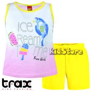 c09447aa401 TRAX Σετ μπλούζα με κολάν για κορίτσι Παπαγάλος της Τραξ