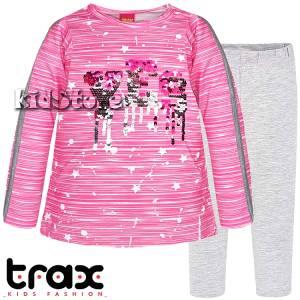 523e6f3dff56 TRAX Σετ μακρυμάνικο με κολάν για κορίτσι Yes της Τραξ