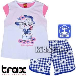 TRAX Σετ μπλούζα με σορτς για κορίτσι Hello της Τραξ 5d9b3d96571