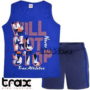 36ce3d3ab0e TRAX Σετ μπλούζα αμάνικη με βερμούδα για αγόρι Never της Τραξ
