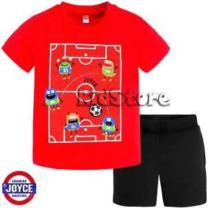 e8e94b21b1b JOYCE Σετ μπλούζα με βερμούδα για αγόρι Football της Τζόις