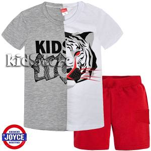 e5e5593554e4 JOYCE Σετ μπλούζα με βερμούδα για αγόρι Tiger της Τζόις