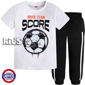 91947a4df8fa JOYCE Σετ μπλούζα με μακρύ παντελόνι για αγόρι με πούλιες διπλής όψεως της  Τζόις