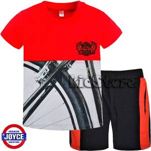 8ec5e11c3e1 JOYCE Σετ μπλούζα με βερμούδα για αγόρι Bike της Τζόις