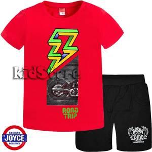c7b2840997f JOYCE Σετ μπλούζα με βερμούδα για αγόρι Motor της Τζόις