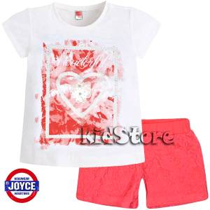 42399391763 JOYCE Σετ μπλούζα με σορτς για κορίτσι Roses της Τζόις