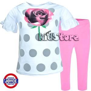 67a8588a22c JOYCE Σετ μπλούζα με κολάν για κορίτσι Rose της Τζόις