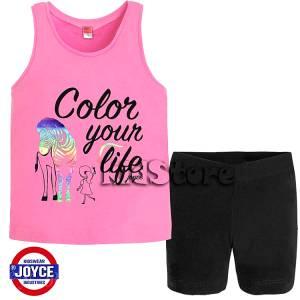 ec38d61cb4e JOYCE Σετ μπλούζα με σορτς για κορίτσι Navy της Τζόις