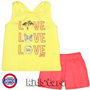 3f5d99d6687 JOYCE Σετ μπλούζα αμάνικη με σορτς για κορίτσι love της Τζόις