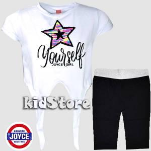 64d2a54be892 JOYCE Σετ μπλούζα με κολάν για κορίτσι Star της Τζόις
