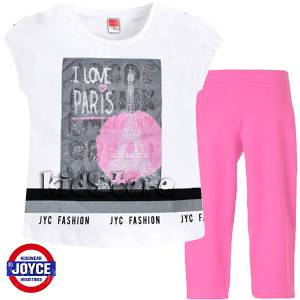 e28d1bd2a89 JOYCE Σετ μπλούζα με κολάν για κορίτσι Paris της Τζόις