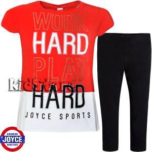 703dab6467f JOYCE Σετ μπλούζα με κολάν για κορίτσι Play της Τζόις
