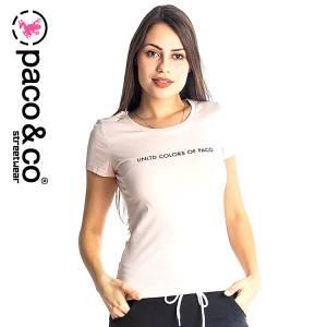 55a38e30d62 PACO Μπλούζα κοντομάνικη γυναικεία Colors της Πάκο